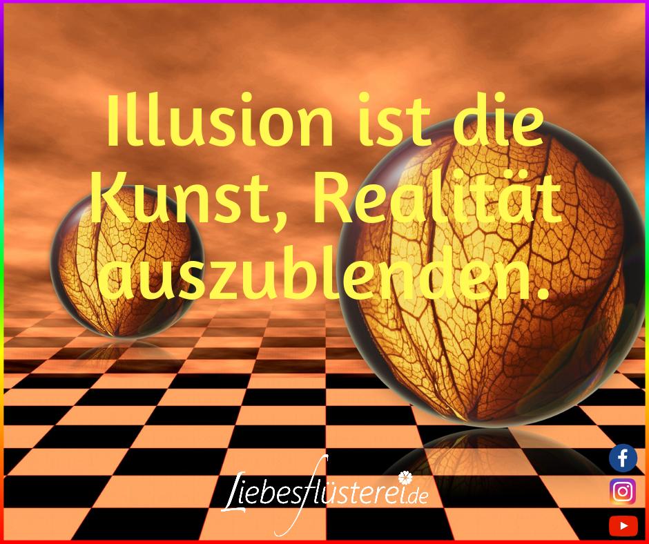 Bild zeigt eine optische Täuschung mit zwei Kugeln als Symbol für die Illusion der Liebe